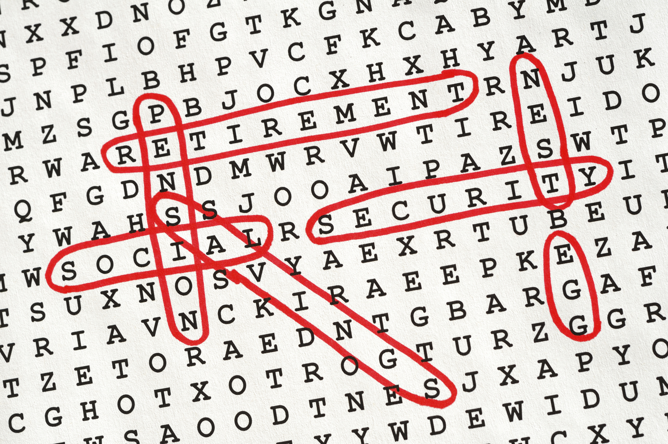 Retirement Word Search Puzzle