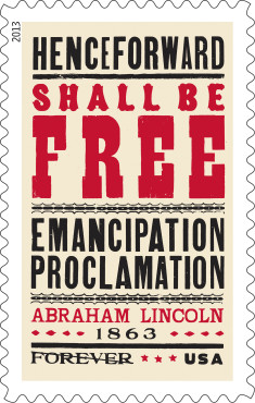 UNITED STATES POSTAL SERVICE EMANCIPATION PROCLAMATION STAMP