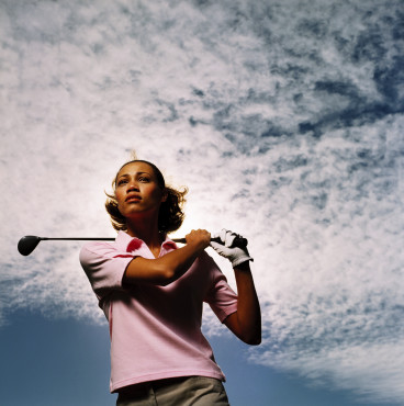 black woman golf