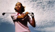 black woman golf crop