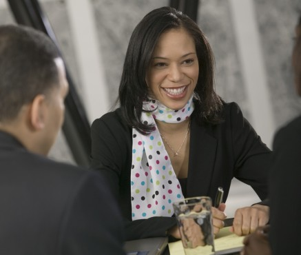 black woman professional job interview crop