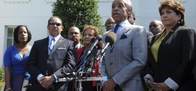 Civil Rights Leaders Meet with President Obama on Voting Rights