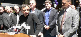 Sacramento Kings principle owner Vivek Ranadivé, standing at the podium, built his software company behind diversity and great talent. His vision bodes well for the Kings and Sacramento region that touts many different faces and backgrounds.   OBSERVER photo by Antonio R. Harvey