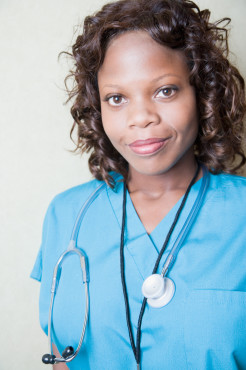 black woman doctor healthcare nurse