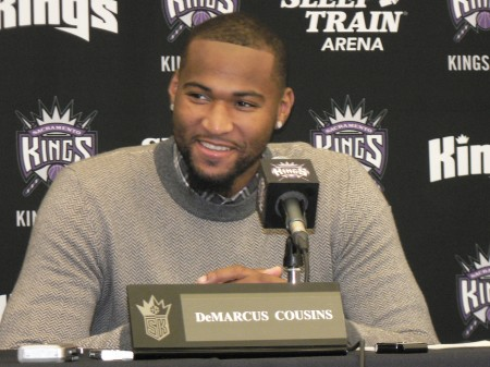 DeMarcus Cousins has had a solid season on the basketball court, thus far. The NBA honored him as the Western Conference Player of the Week. The Kings' brass hopes he makes the All-Star Team, too. OBSERVER Photo by Antonio R. Harvey