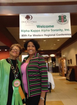 17th Far Western Regional Director, Archalene Amos Martin and the 23rd Far Western Regional Director, Dr. LaVern S. Tarkington