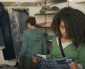 black teen girl shopping
