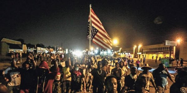 Protesters in Ferguson, Mo. (Lawrence Bryant/St. Louis American) by Herb Boyd
