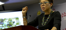 """Sheryll Cashin, a professor of law at Georgetown University in Washington D.C. advocates for """"place-based"""" affirmative action policies in education. (Freddie Allen/NNPA)"""
