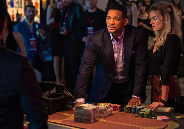 Will Smith and Margot Robbie co-star in the con artist movie Focus.