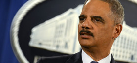 Holder's departing press conference. (NNPA Photo by Freddie Allen)