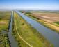 Aerial view of Sacramento River, California