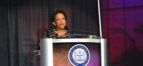 Attorney General Loretta Lynch speaking at NAACP convention in Philadelphia (Photo by Abdul Sulayman/Philadelphia Tribune}