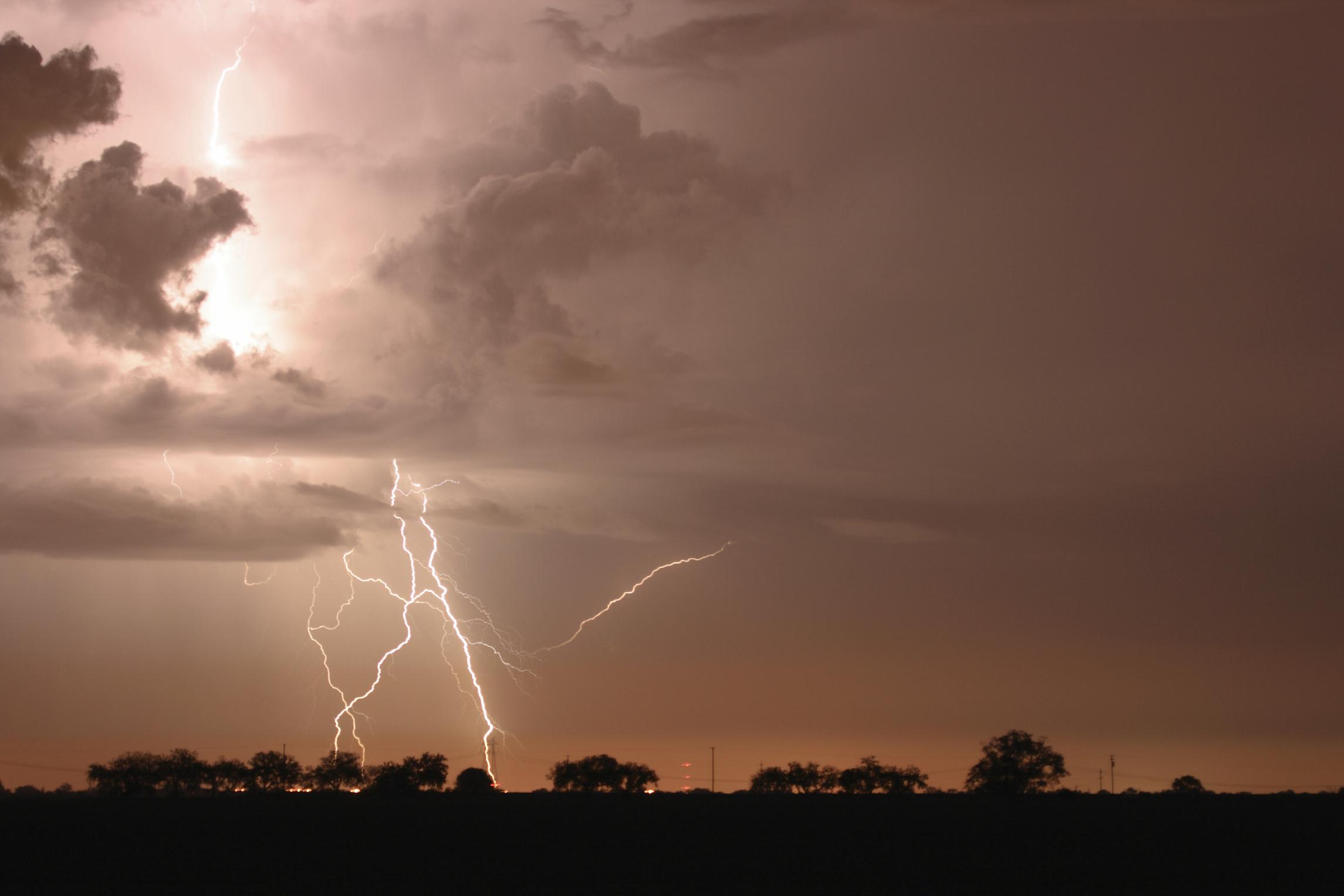 Lightning storm over Sacramento, CA