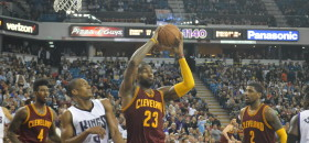 LeBron James Plays His Last Game In Sleep Train Arena, Cleveland Claims 120-111 Victory