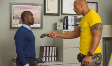 In tandem, Kevin Hart and Dwayne Johnson, hilarious adventure