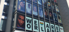 The Human Rights Campaign displayed the memorial for the victims of the Orlando massacre from June 17 Ð June 20. (Victoria Jones/NNPA/DTU)