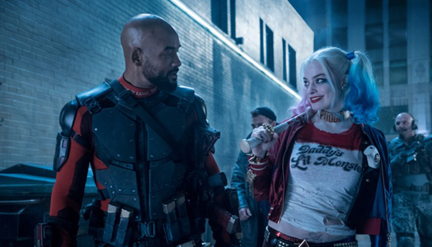 "Will Smith (left) and Margot Robbie star in ""Suicide Squad."" (Lionsgate Films)"