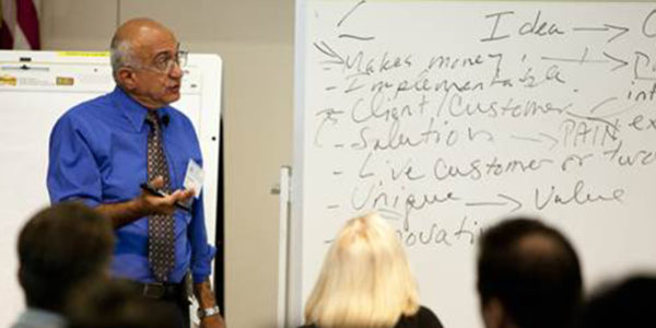 """""""10,000 Small Businesses"""" faculty member Farshad Rafii shares 'actions for growth' insights during a recent cohort in Southern California. (Goldman Sachs)"""